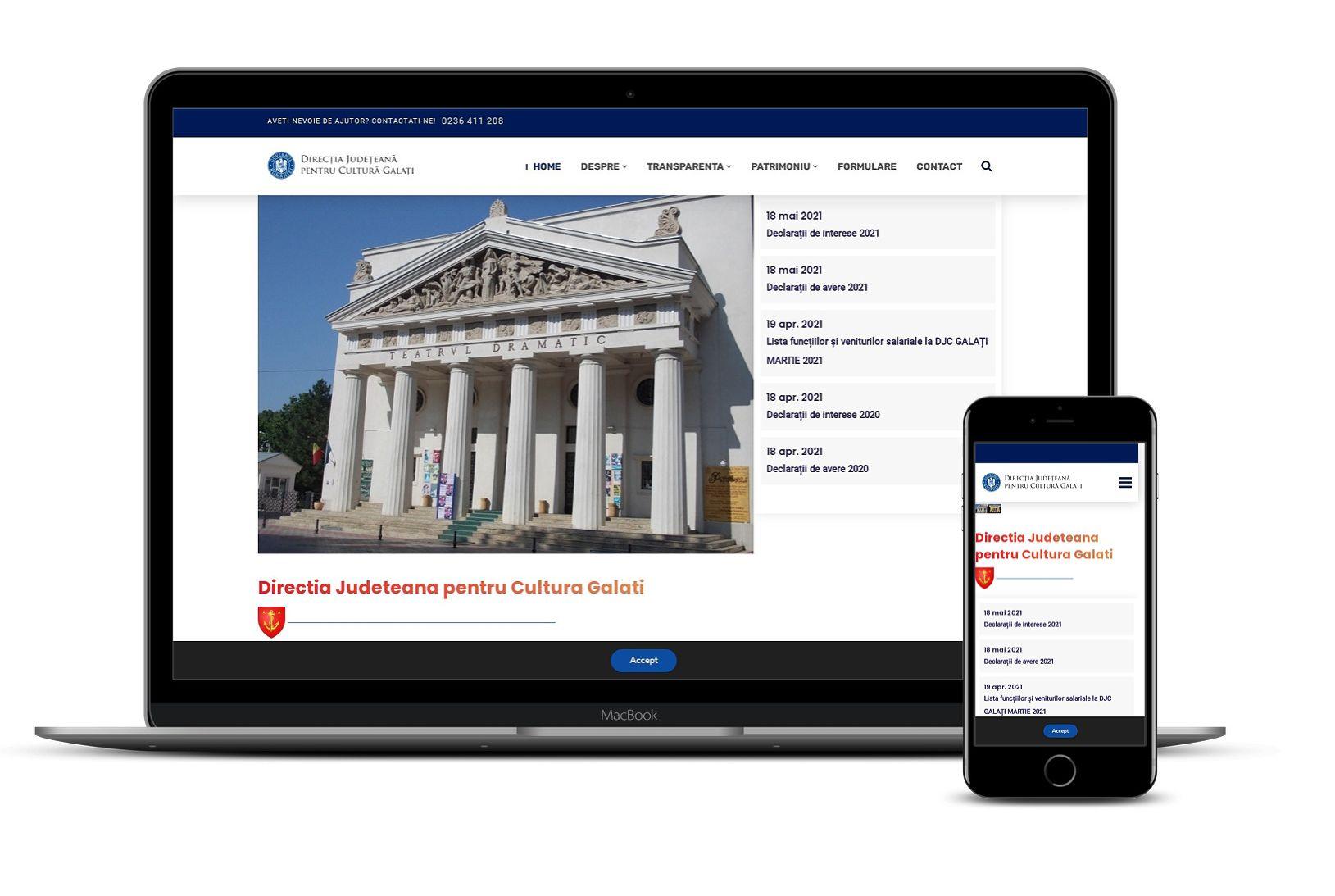 Website direcția județeană pentru cultură Galați