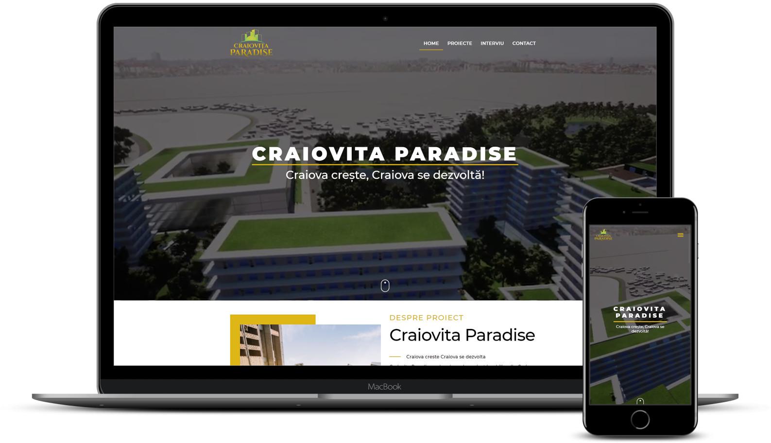 Web design site proiect imobiliar