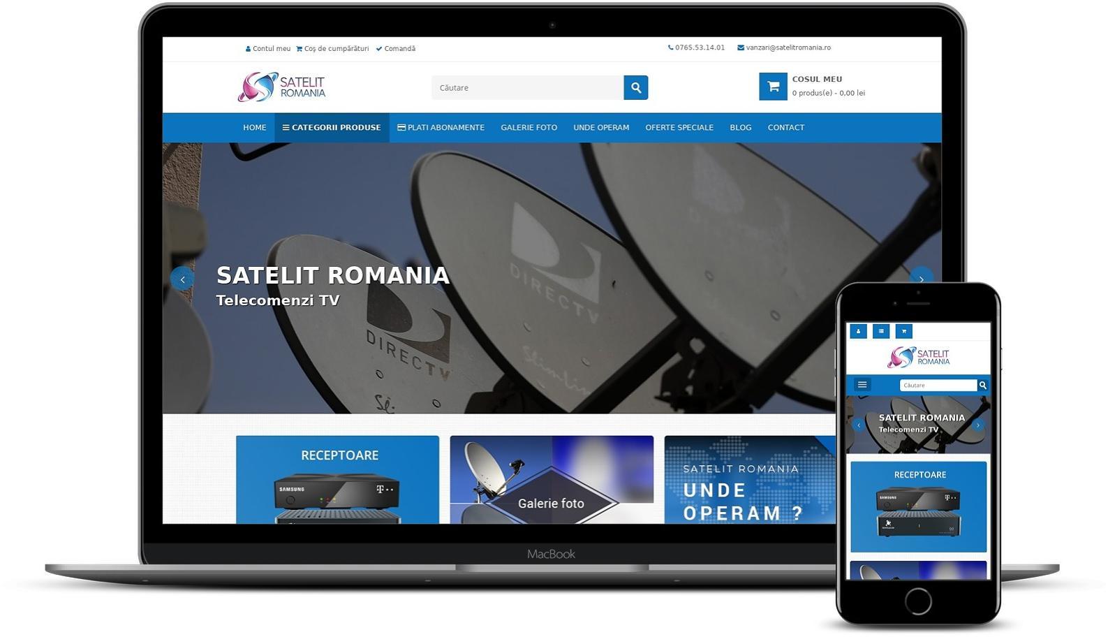 Realizare magazin online produse TV