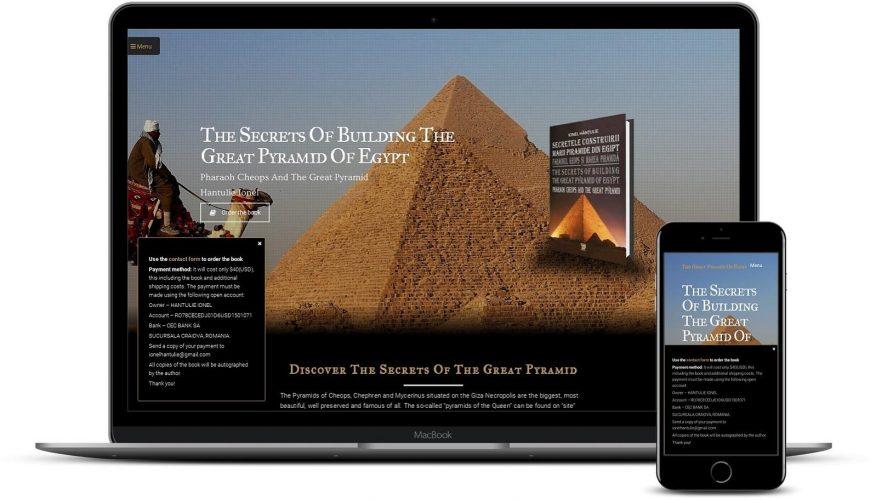 Realizare site de prezentare pentru carte