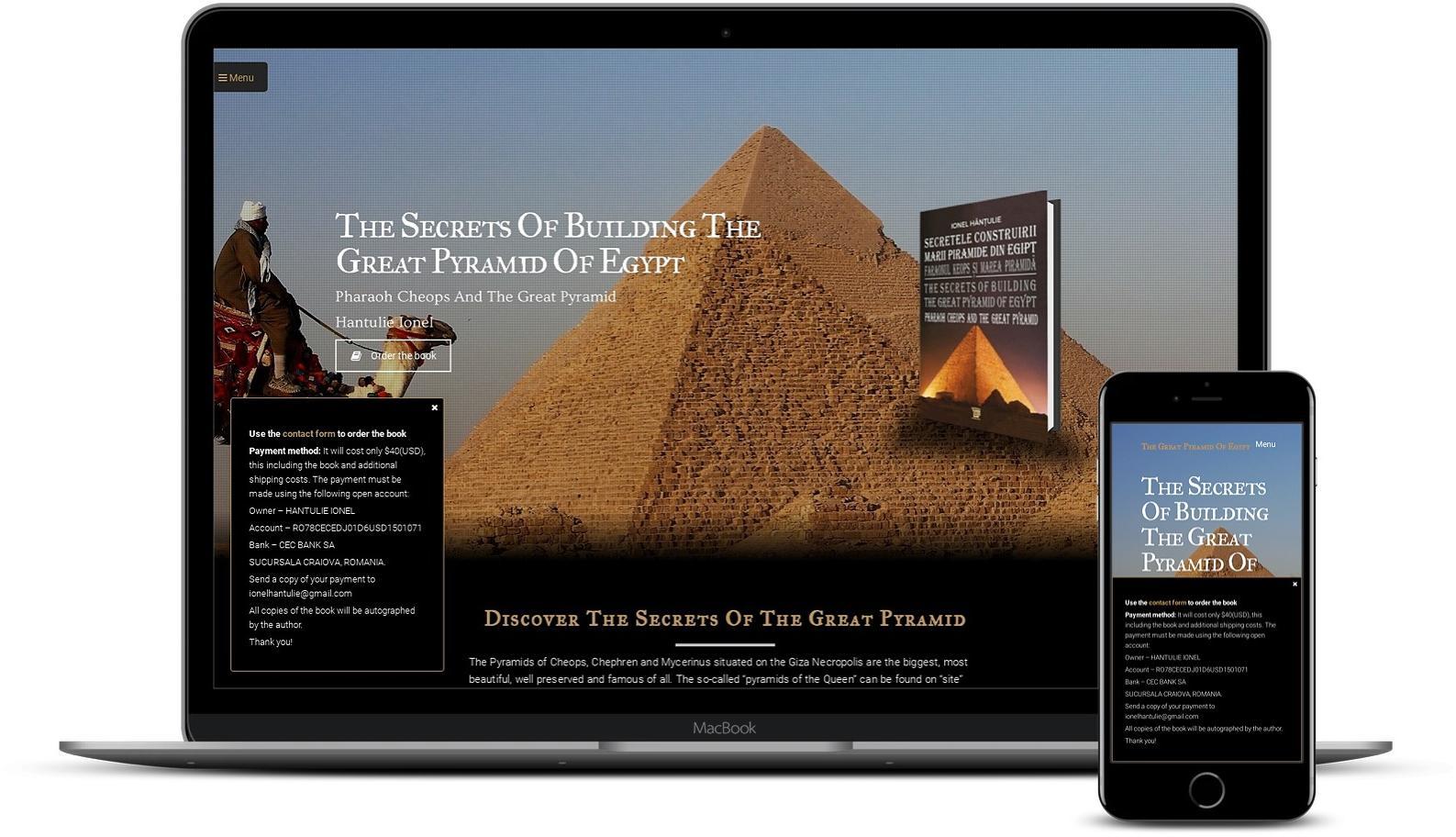 Website de prezentare carte