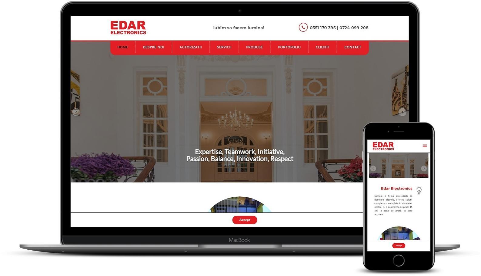 Realizare site de prezentare firma electricitate