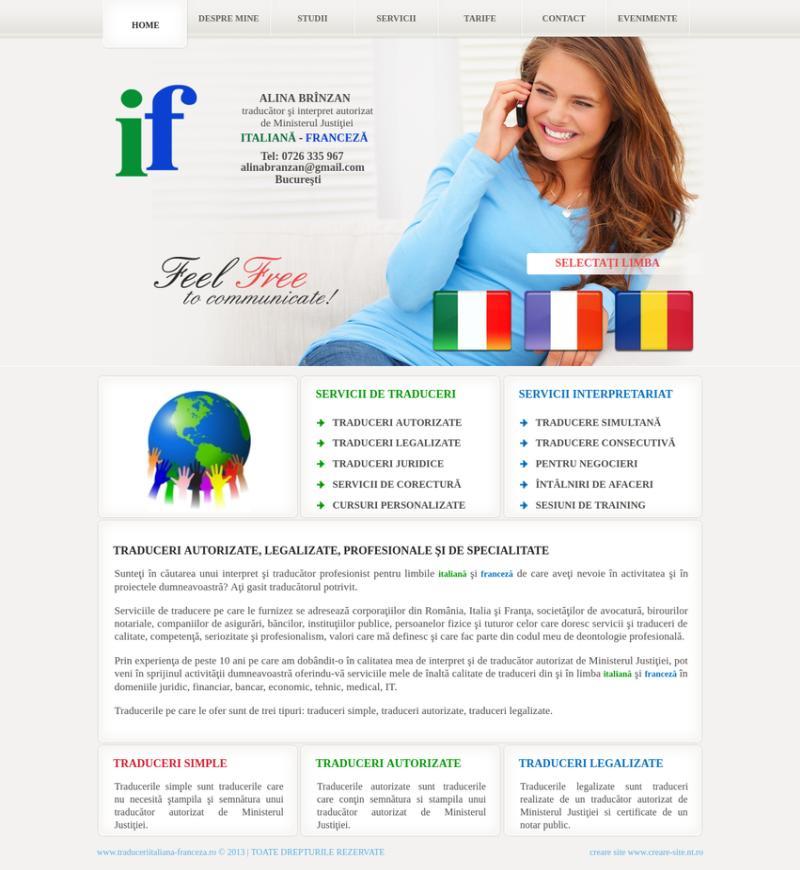 Creare site firma traduceri