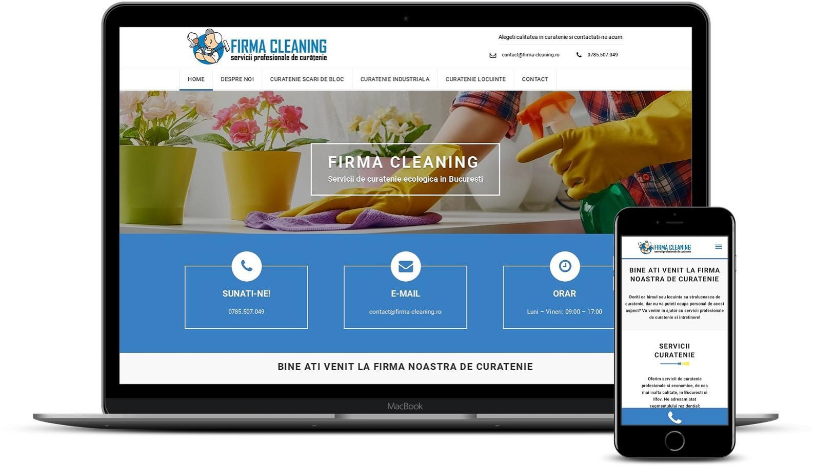 Creare site de prezentare firma de curatenie
