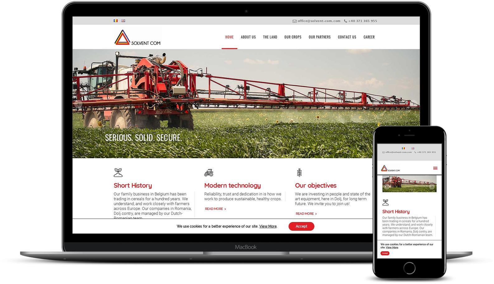 Modificare design site firma agricola