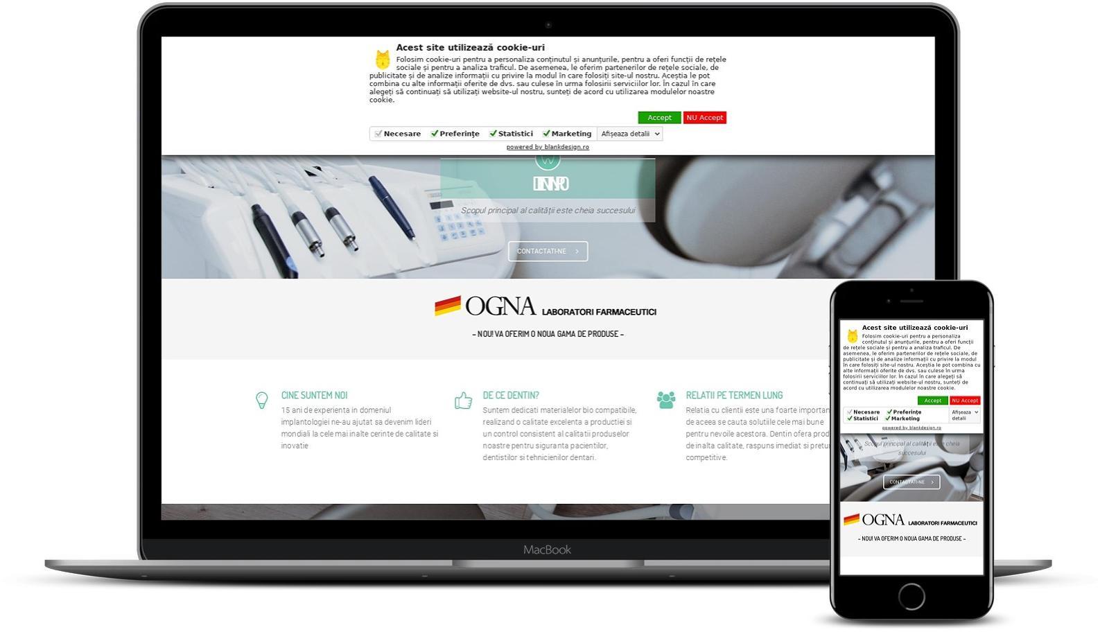 Website de prezentare cabinet stomatologic
