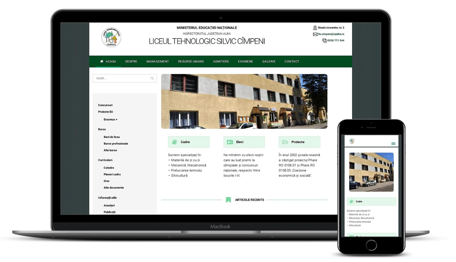 Website Liceul Tehnologic Silvic Cimpeni