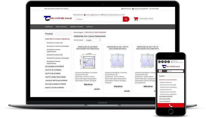 Web design site de tamplarie