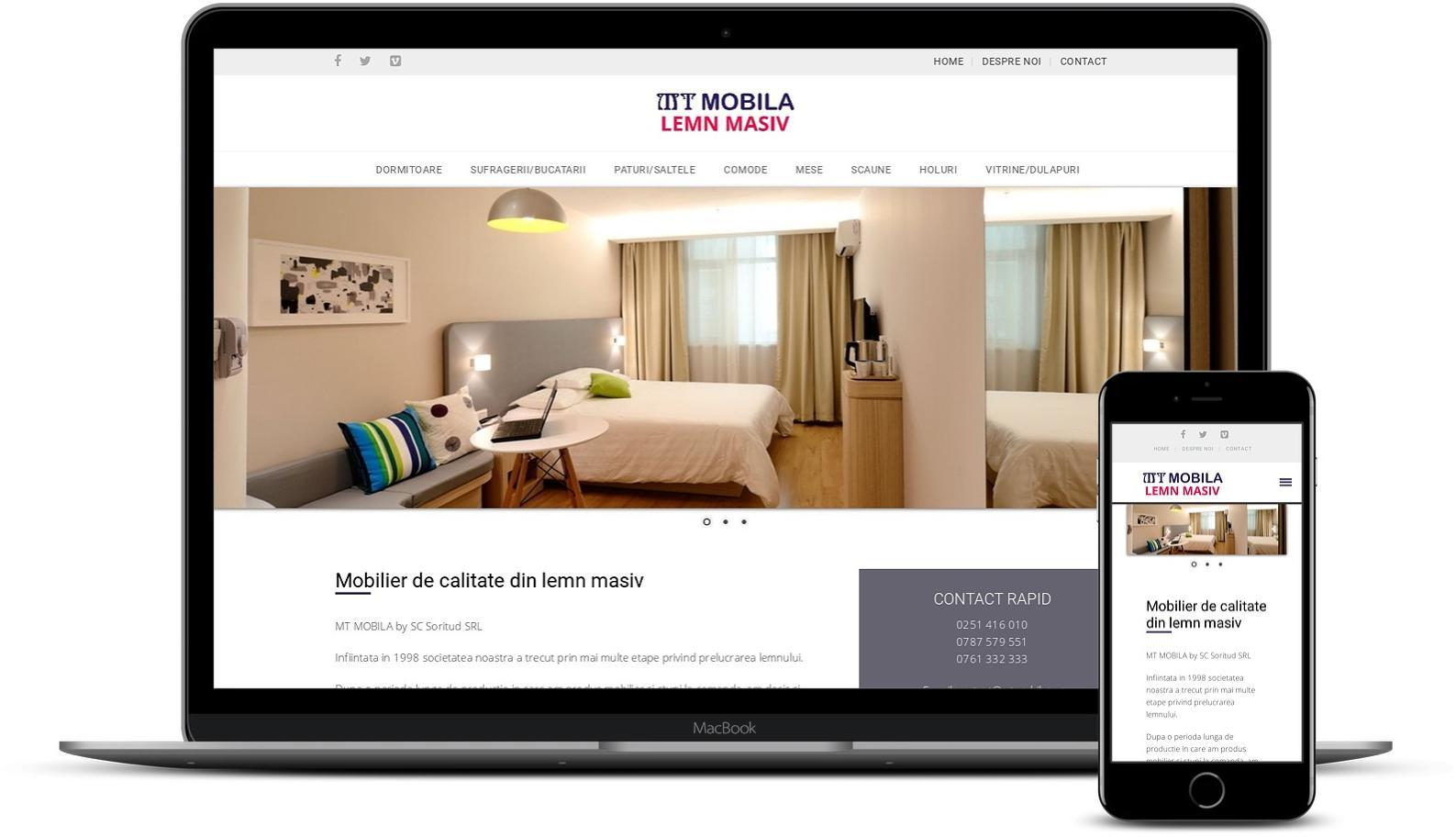 Realizare site de prezentare mobilă