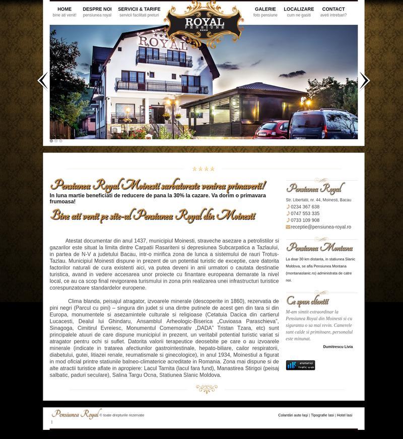 Creare site pensiune turistica