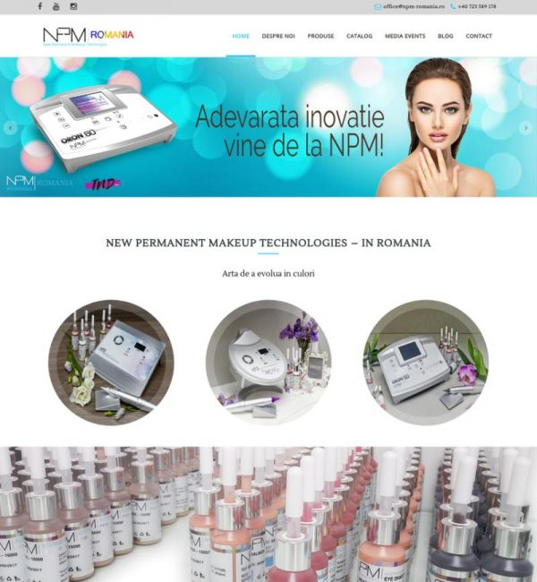 Creare site salon cosmetic