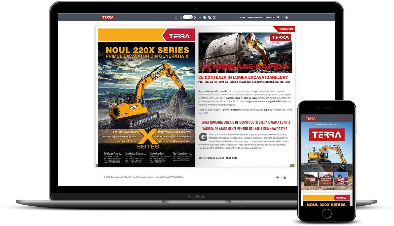 Creare site revista utilaje constructii