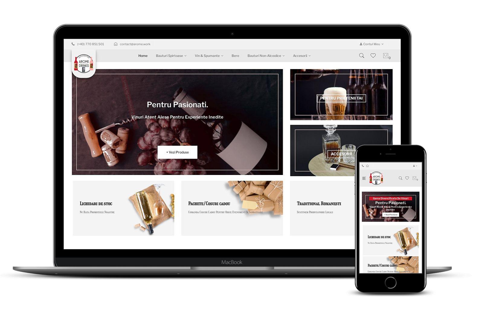 Magazin online de băuturi alcoolice