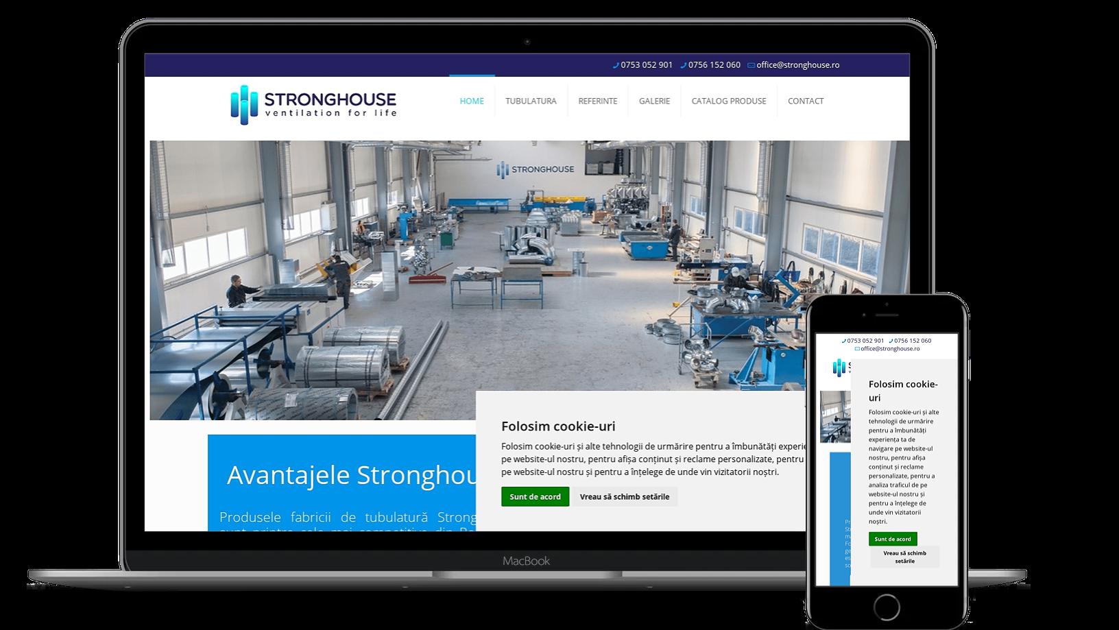 Website prezentare fabrica tubulatura