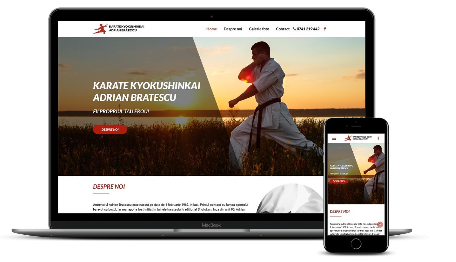 Creare site Club Karate
