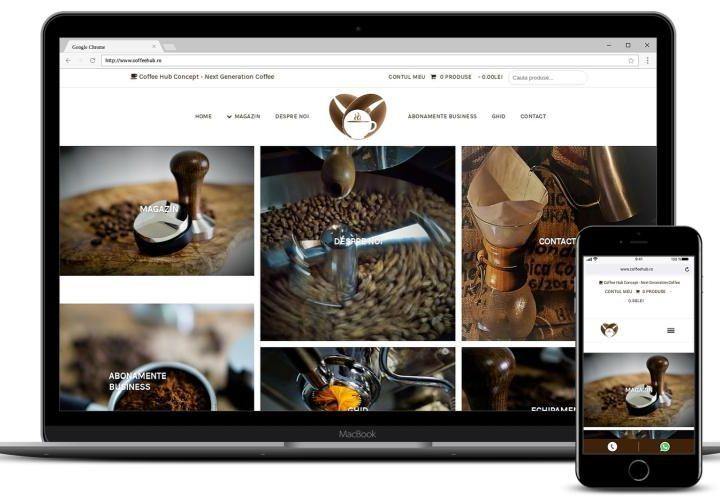 Creare magazin online cafea