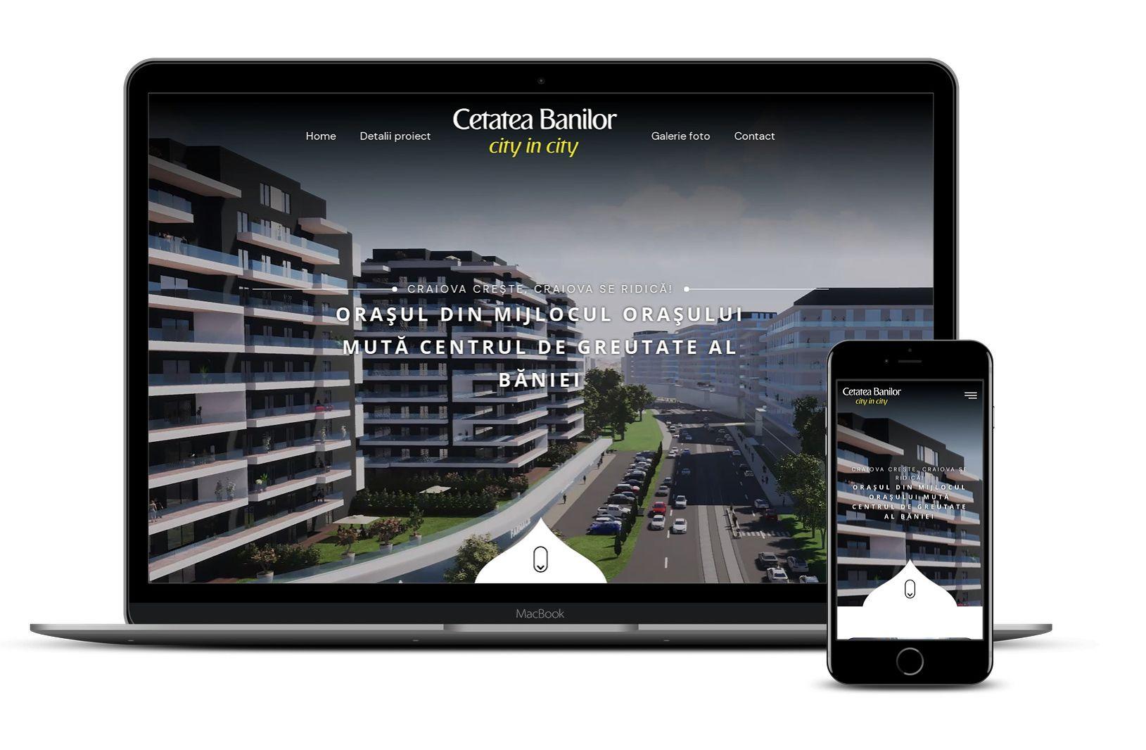 website de prezentare proiect imobiliar