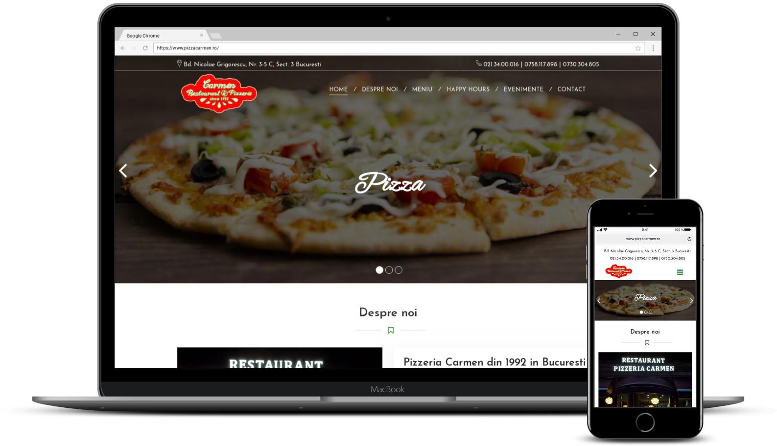 Website prezentare pizzerie