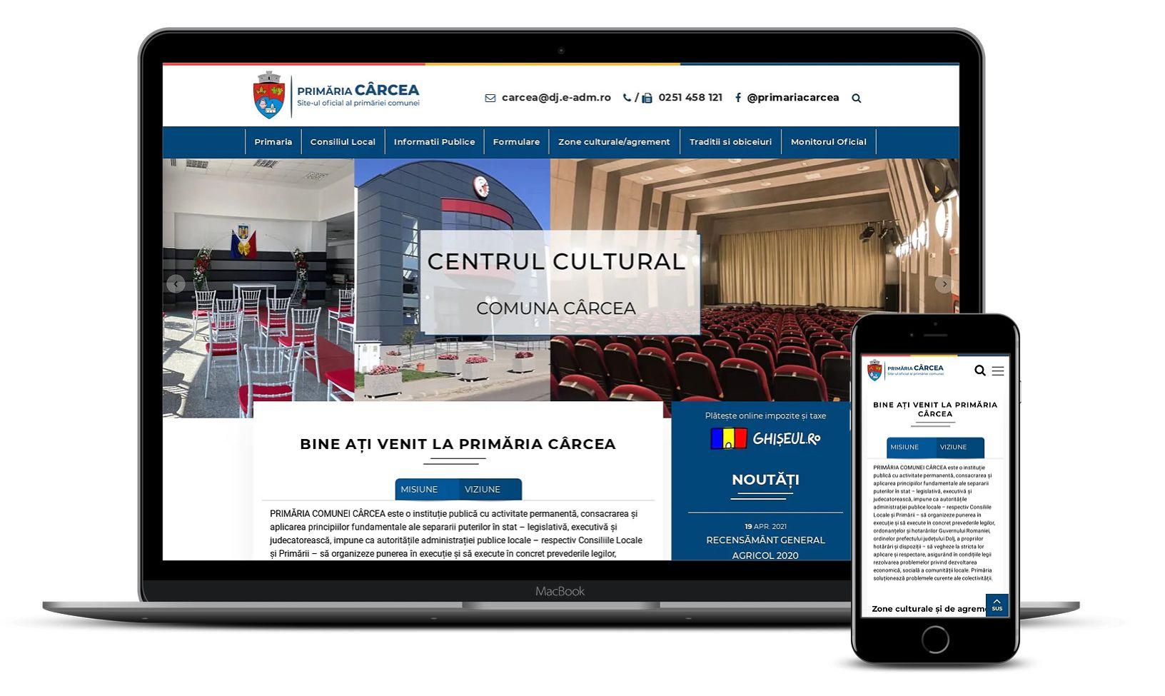 Website primărie comuna Cârcea