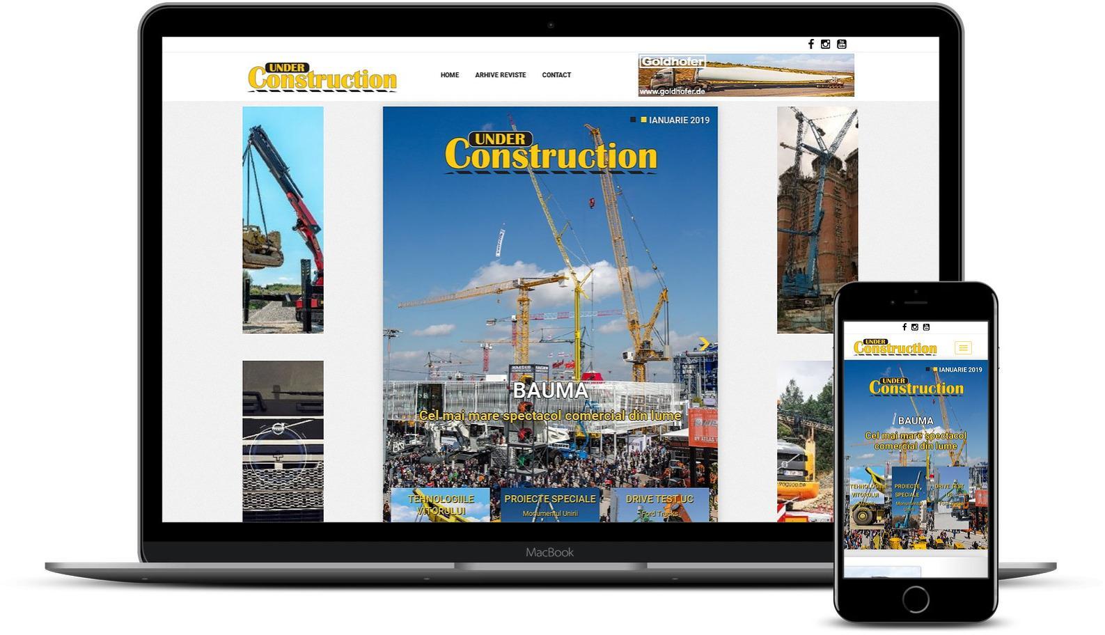Creare site revista utilaje si constructii