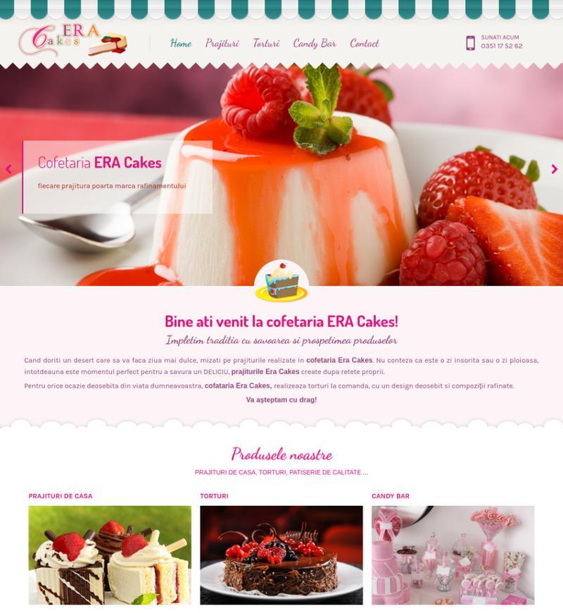 Realizare site prezentare cofetarie