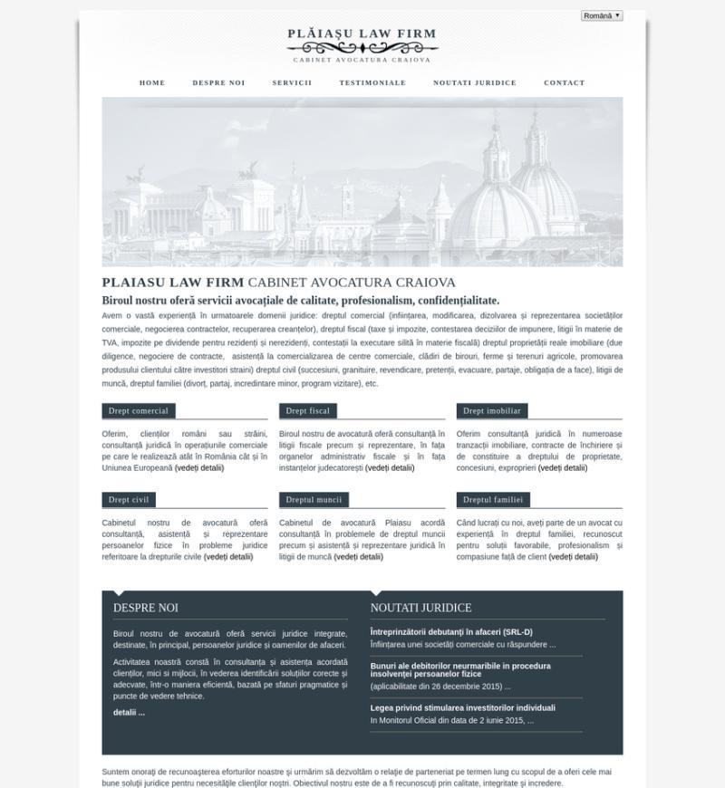 Realizare site cabinet avocatura