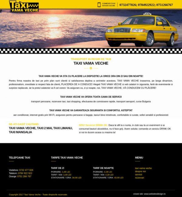 Creare site firma taxi