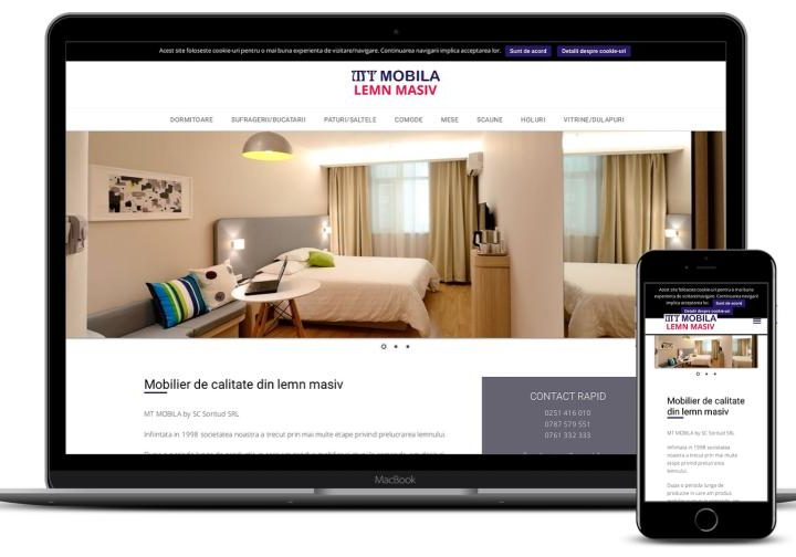 Realizare site de prezentare mobila