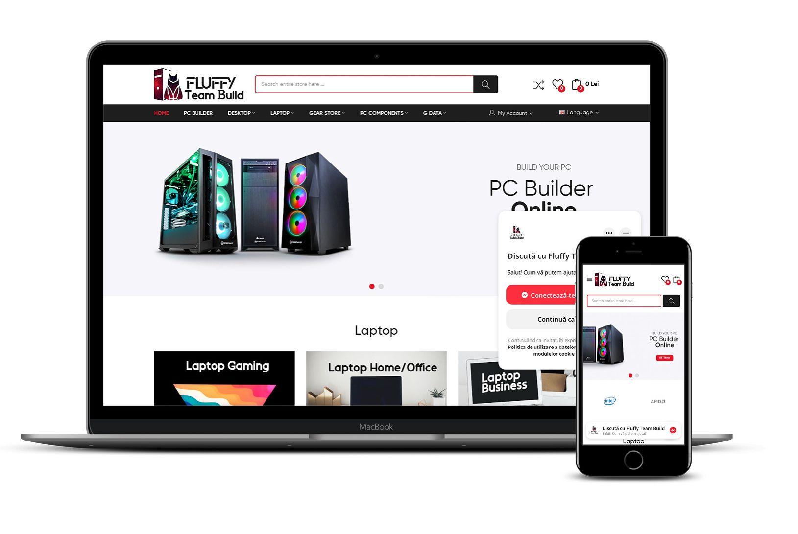 Magazin online calculatoare și componente PC