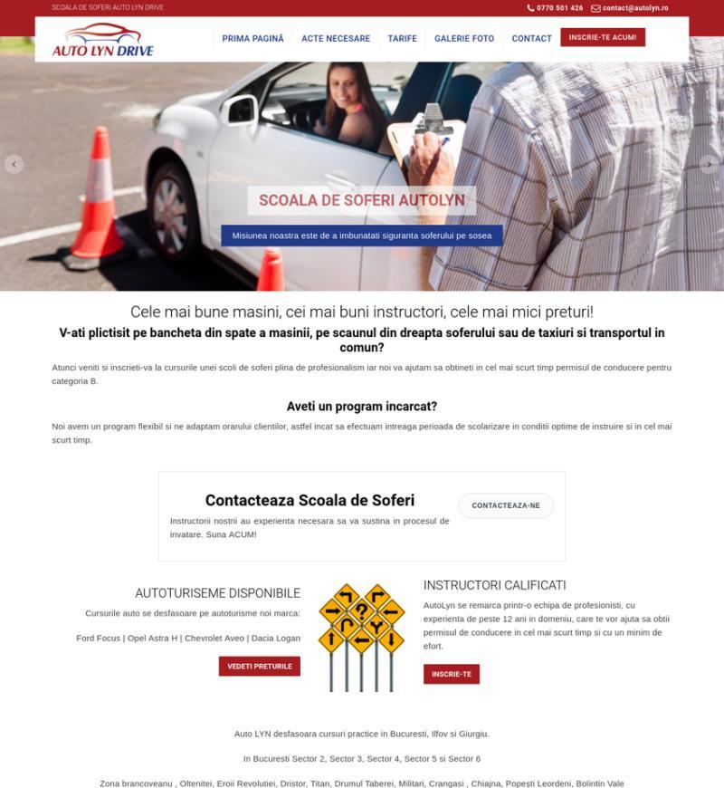 Web design site scoala auto