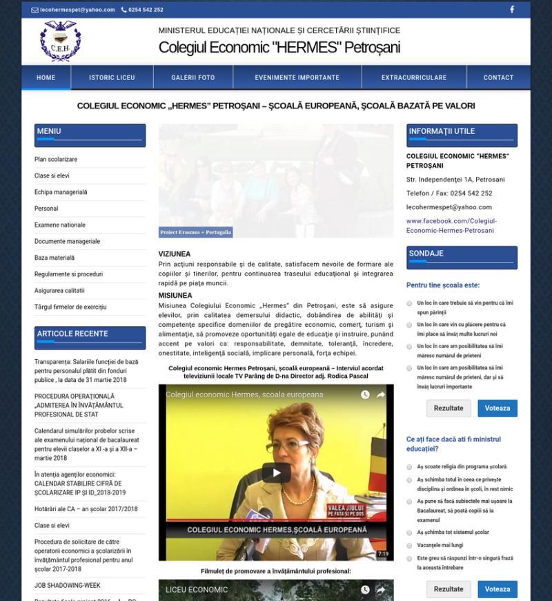 Realizare site institutie de invatamant